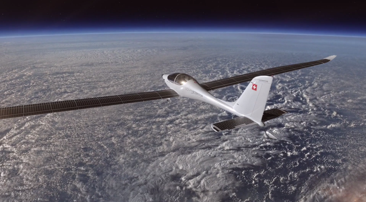 SolarStratos could become the first solar-powered aircraft to fly into the stratosphere. Source: SolarStratos