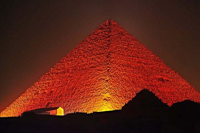 Great Pyramid of Giza at night. Source: paweesit / CC BY-ND 2.0