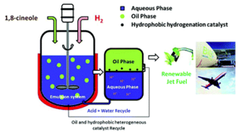 Schematic of the biphasic tandem catalytic process. Source: Washington State University