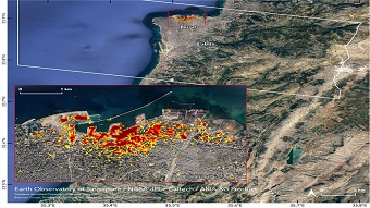 NASA maps Beirut blast damage with satellite data