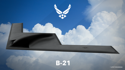 Artist's rendering of the B-21 bomber. Source: U.S. Air Force