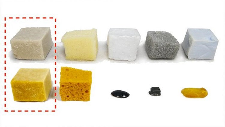 High performance foam made out of cheese by-products