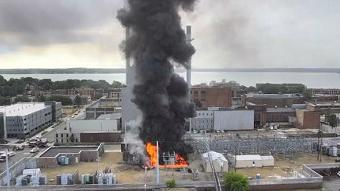 Mechanical failure led to transformer explosion and power outage