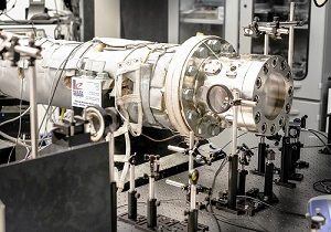 End view of the shock tube used to model the auto-ignition properties of light naphtha. Image credit: ©KAUST.
