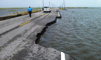 LA1 near Port Fourchon suffered damage during Hurricane Isaac in 2012. Image source: LA1  Coalition.