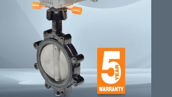 High-flow butterfly valve for HVAC applications