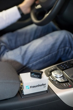 The data logger is useful when developing new hybrid and electric vehicles, and also increases the efficiency of vehicle fleets. Credit: Fraunhofer ICT