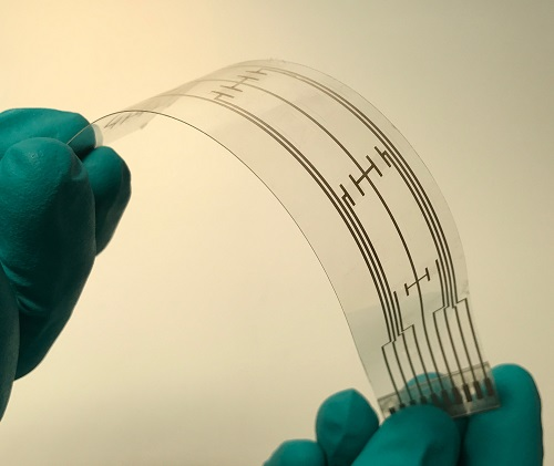 A printed flexible sensor manufactured by Brewer Science. Source: Brewer Science