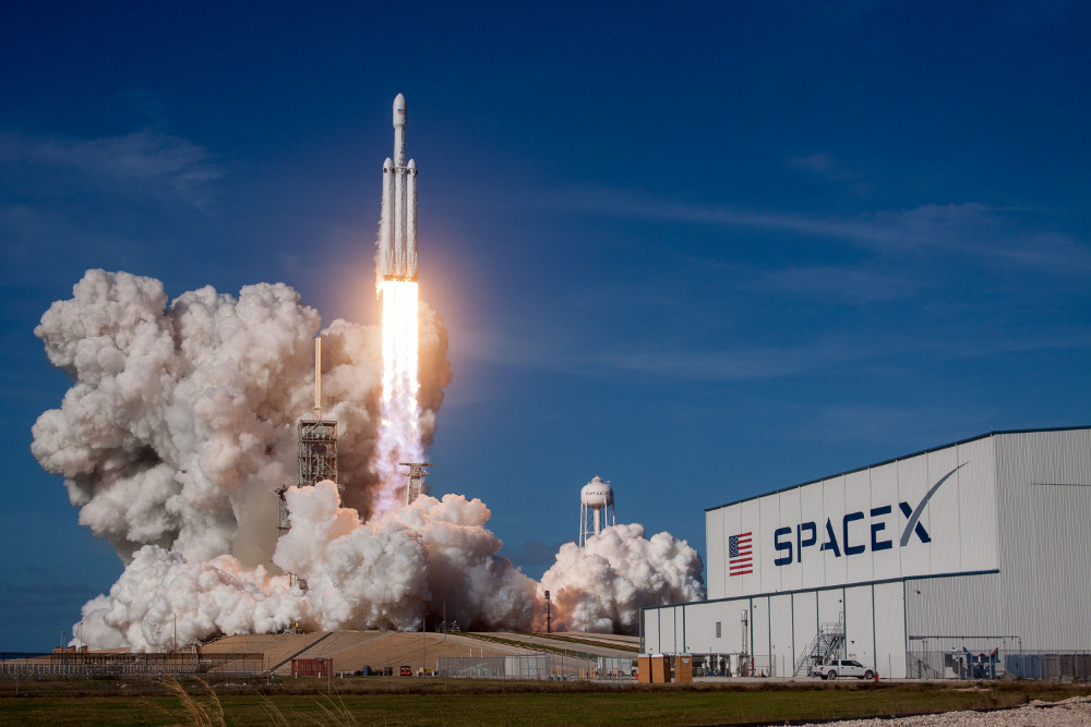 The test launch of SpaceX's Falcon Heavy launched the first Arch library into a permanent orbit around the sun that extends past Mars into the Asteroid Belt. Source: SpaceX